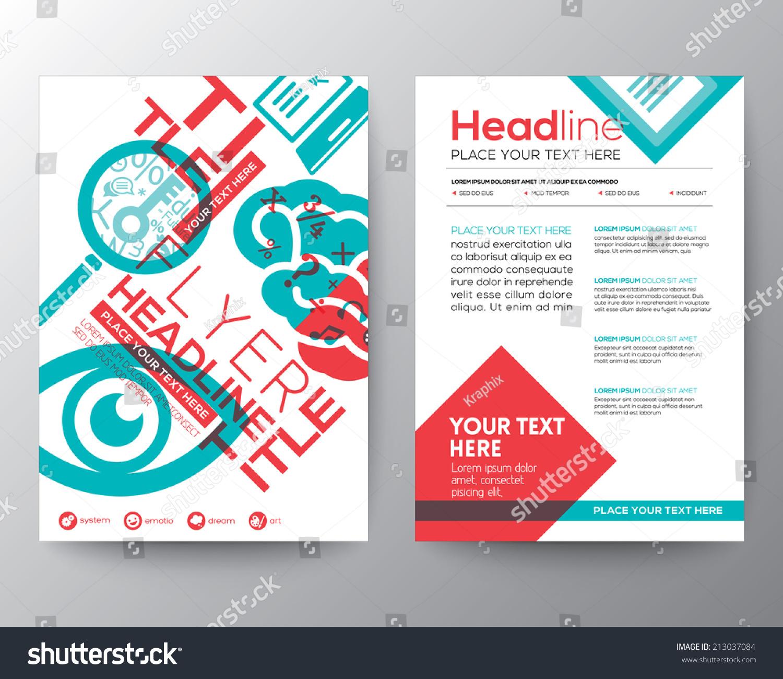 Typography Brochure Flyer Design Layout Vector Vector – Typography Flyer