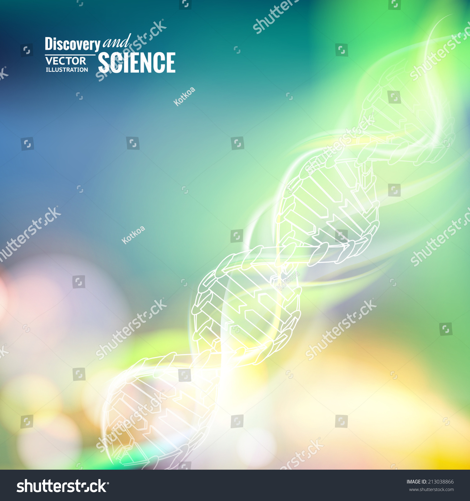 Science concept image of DNA Vector illustration