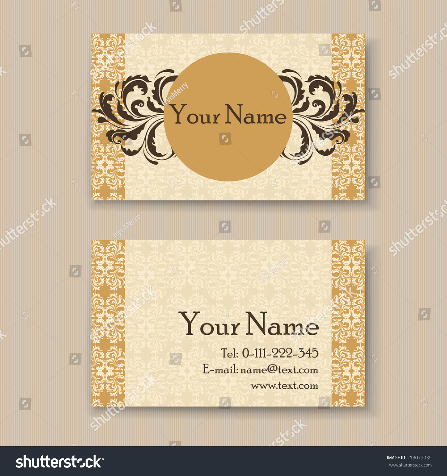 Stylish vintage business card template stock vector 213079039 stylish vintage business card template flashek Choice Image
