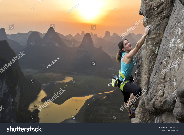 female extreme climber and - photo #18