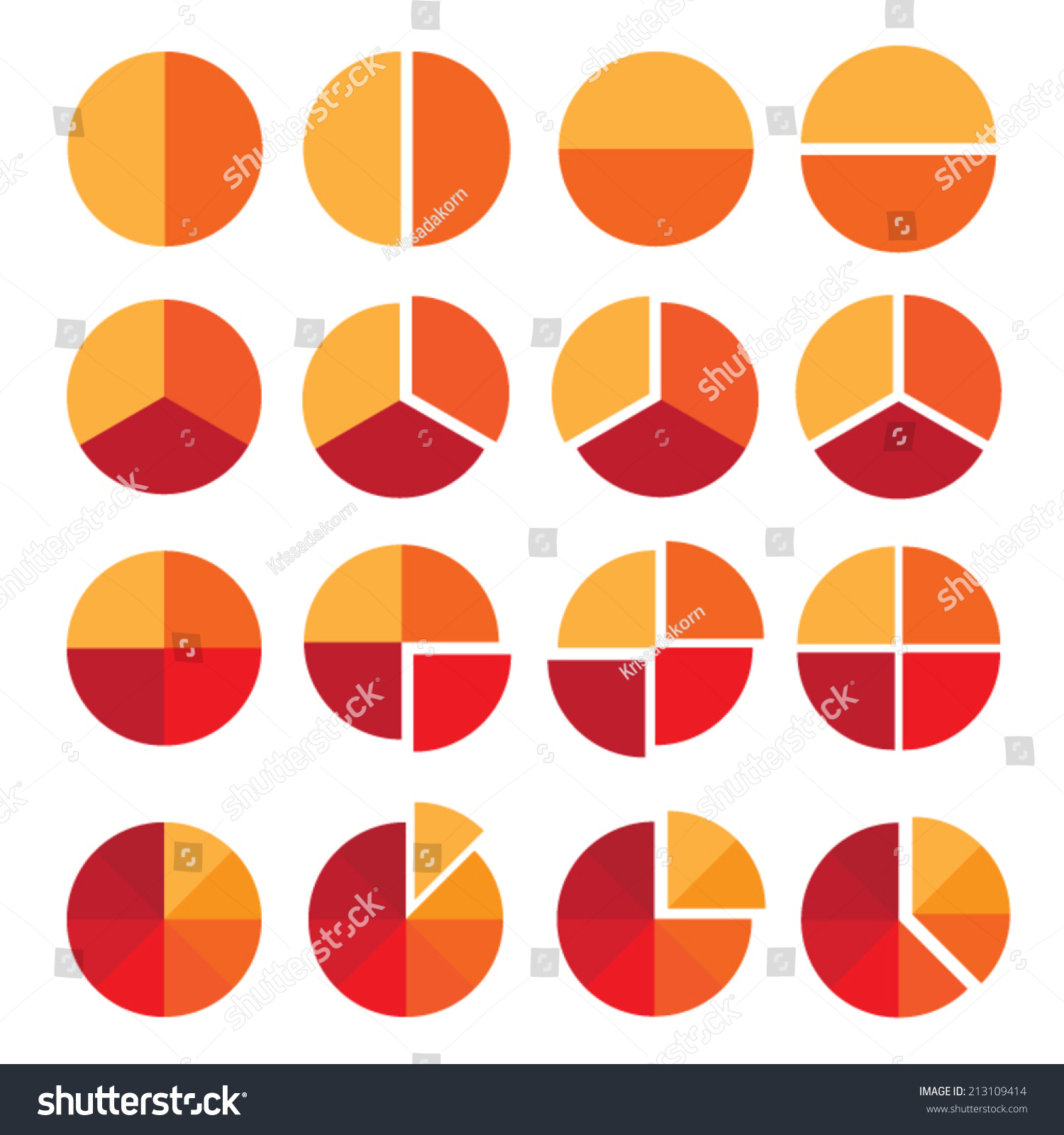 Set Diagram Vector Icons Isolated On Stock Vector 213109414