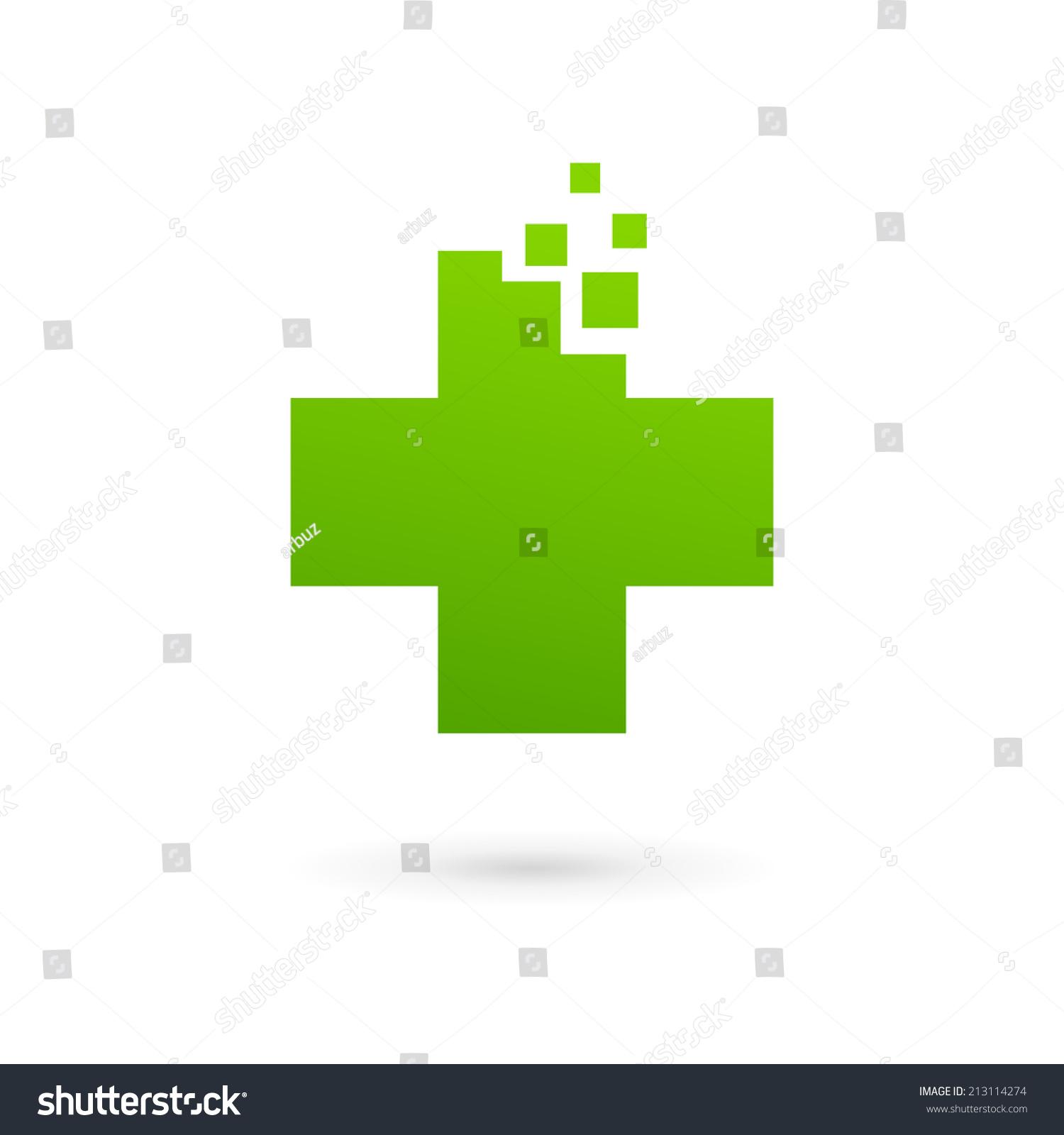 medical icon design template cross vector stock vector 213114274