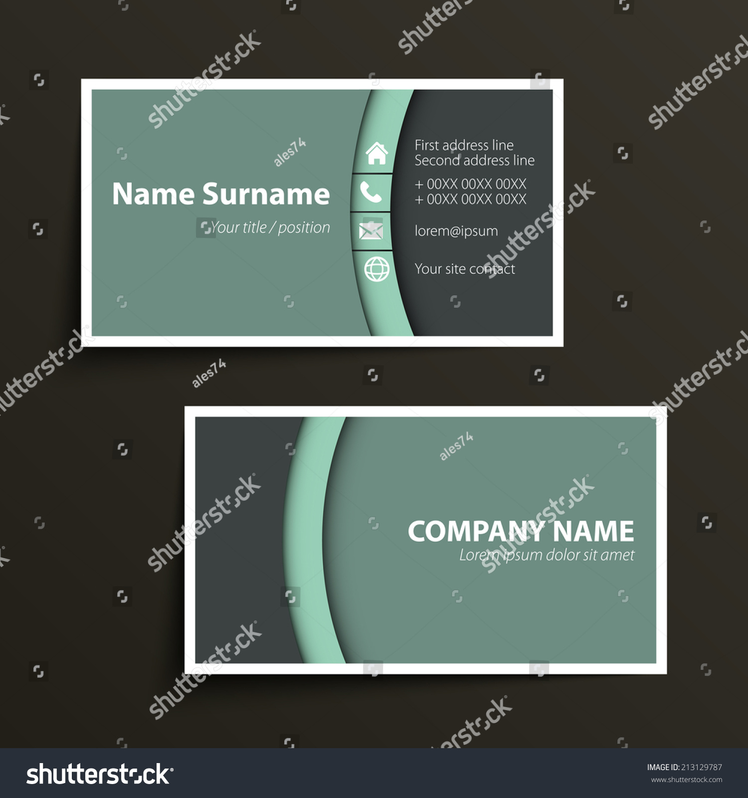 format of a business card