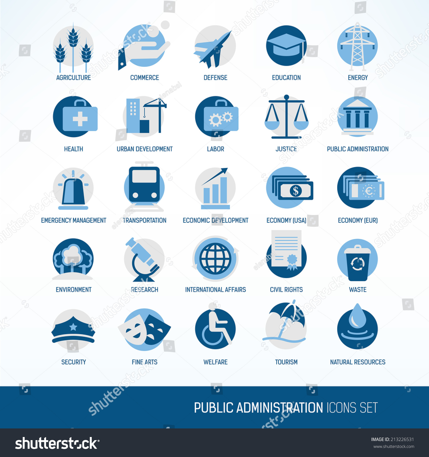 public administration icons stock vector 213226531 shutterstock