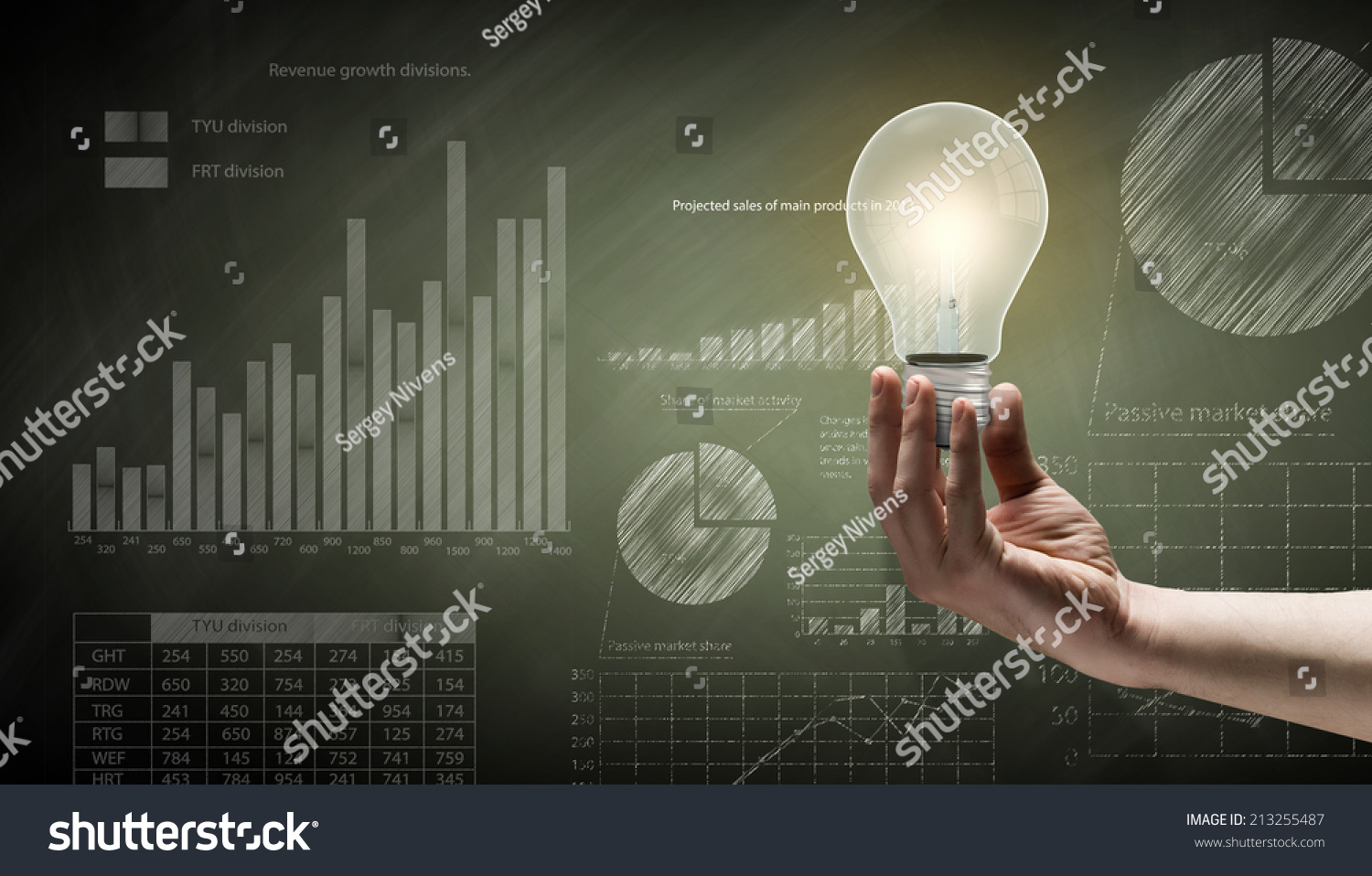 Royalty Free Conceptual Image With Light Bulb 213255487 Stock Incandescent Diagram Diagrams And Graphs