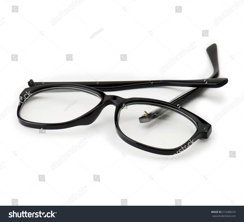 Broken Eye Glasses Isolated On White Stock Photo (Edit Now ...