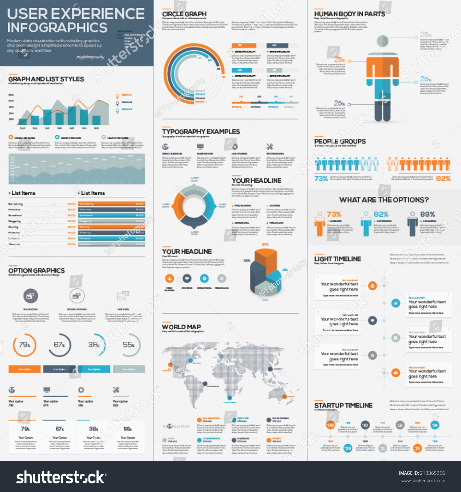 Big pack data visualization vector infographics stock vector big pack of data visualization vector infographics and elements publicscrutiny Choice Image