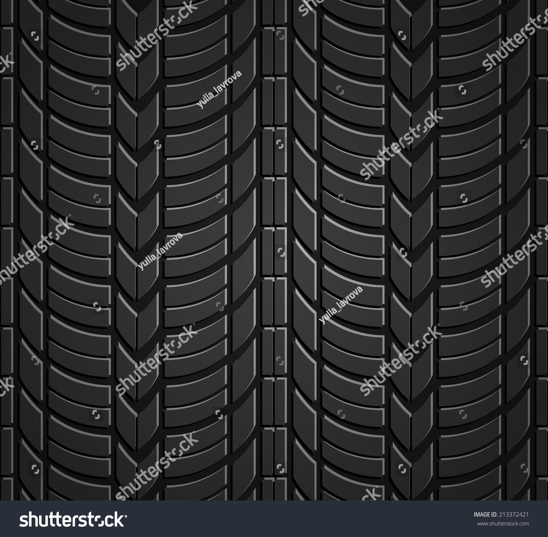Wheel tire seamless pattern vector realistic stock vector 213372421 shutterstock - Tire tread wallpaper ...