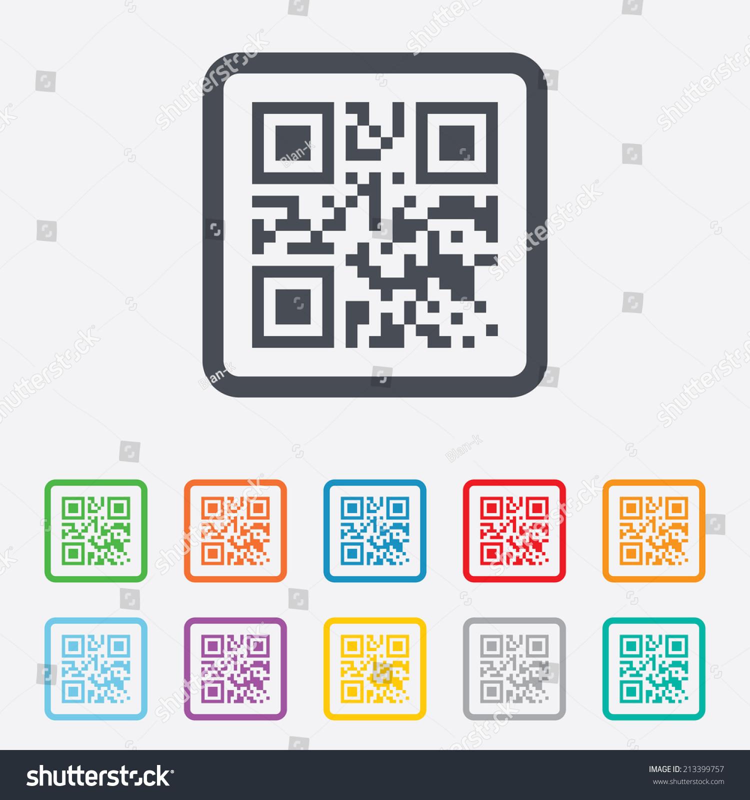 Qr Code Sign Icon Scan Code Vectores En Stock 213399757 - Shutterstock