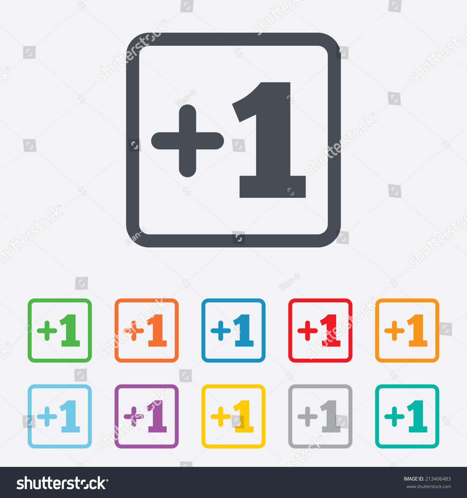 Plus One Sign Add One Symbol Stock Vector (Royalty Free) 213406483 ...