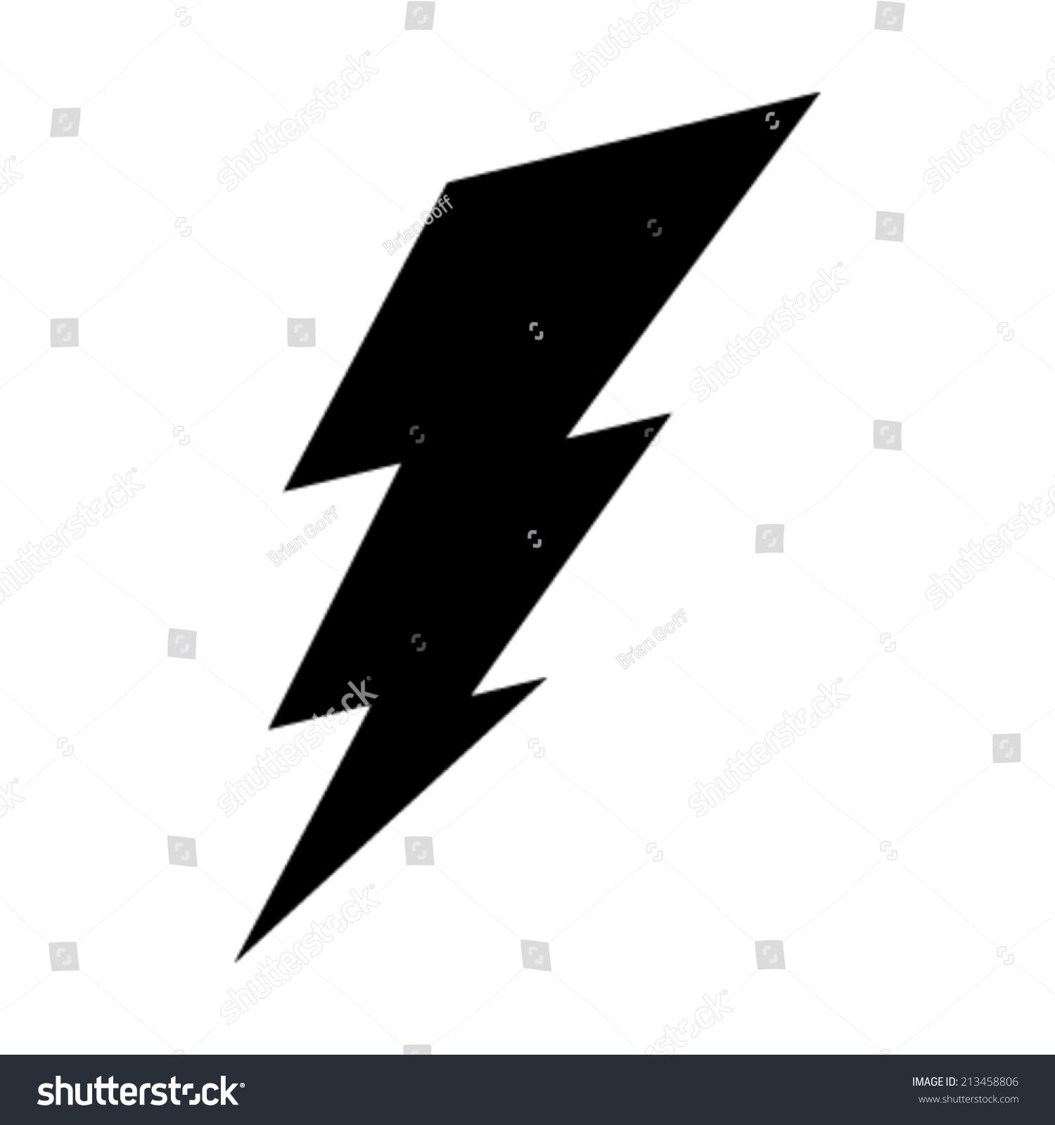 Lightning Bolt Vector Icon Stock Vector 213458806 - Shutterstock for Vector Lighting Bolt  76uhy