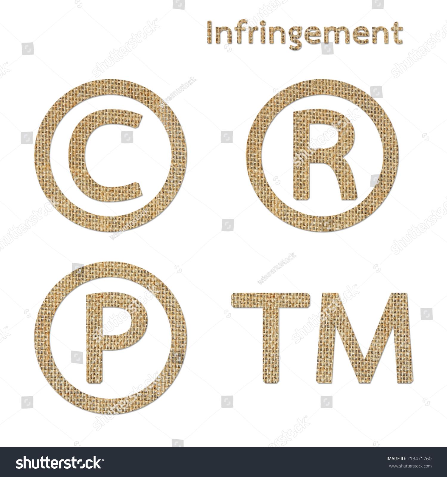 Burlap Copyright Trademark Registered Symbol Isolated Stock