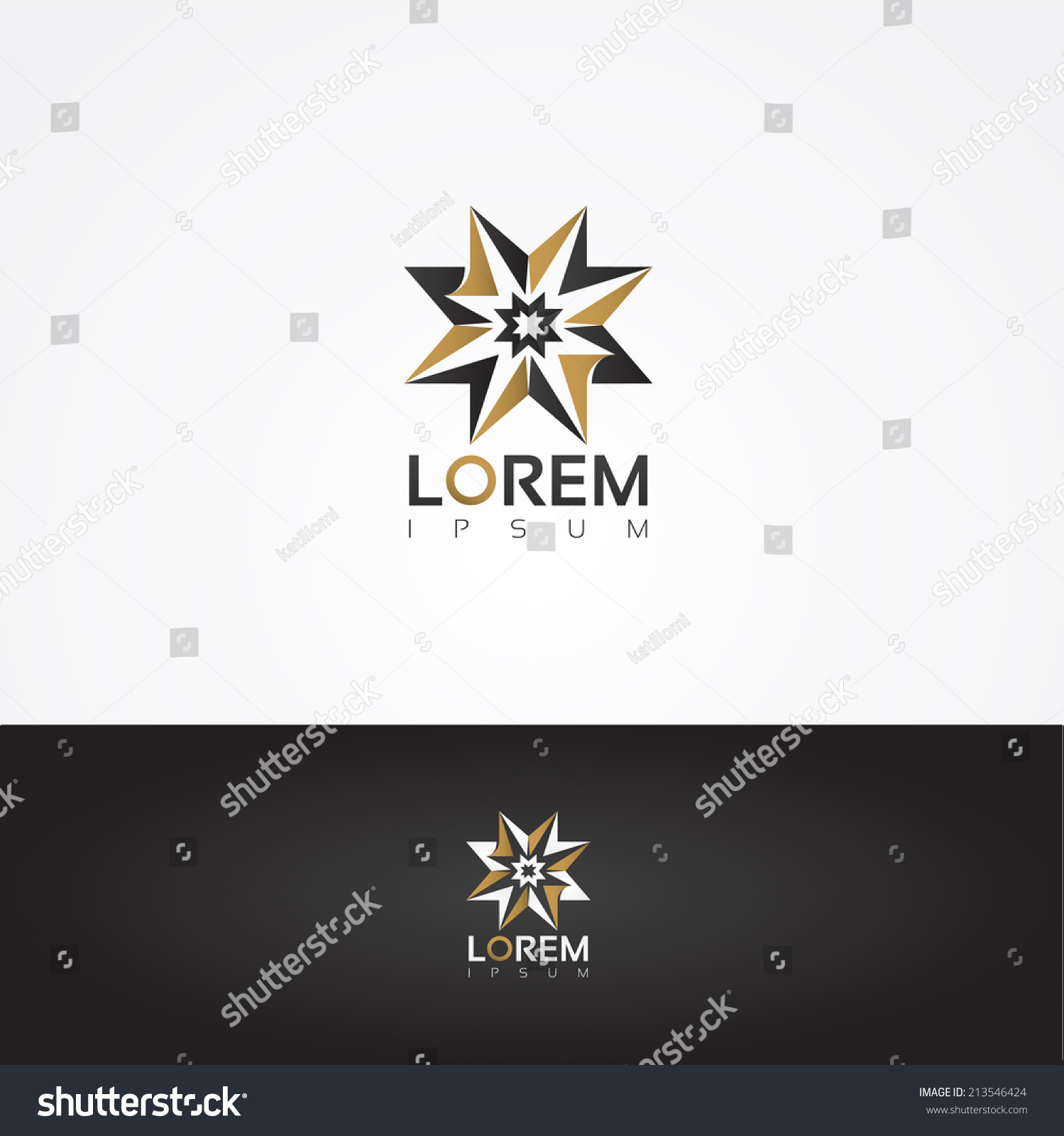 Vector Graphic Gold Grey Star Shaped Stock Photo Photo Vector