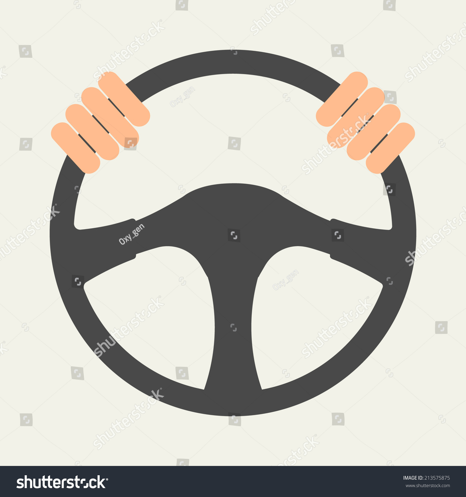Hands Holding Steering Wheel Vector Illustration Stock ...