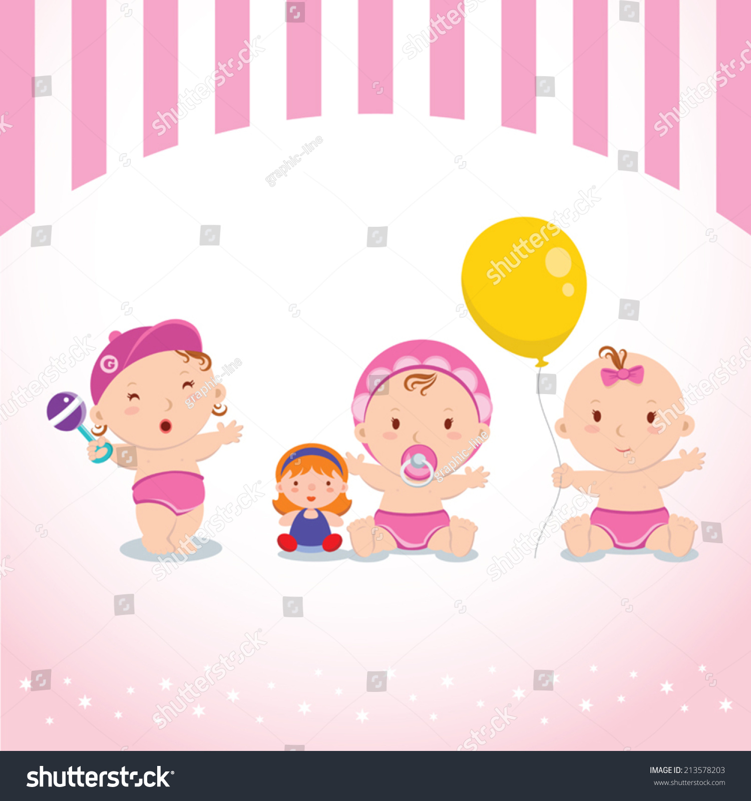 Baby Girl Toys Stock Vector Shutterstock