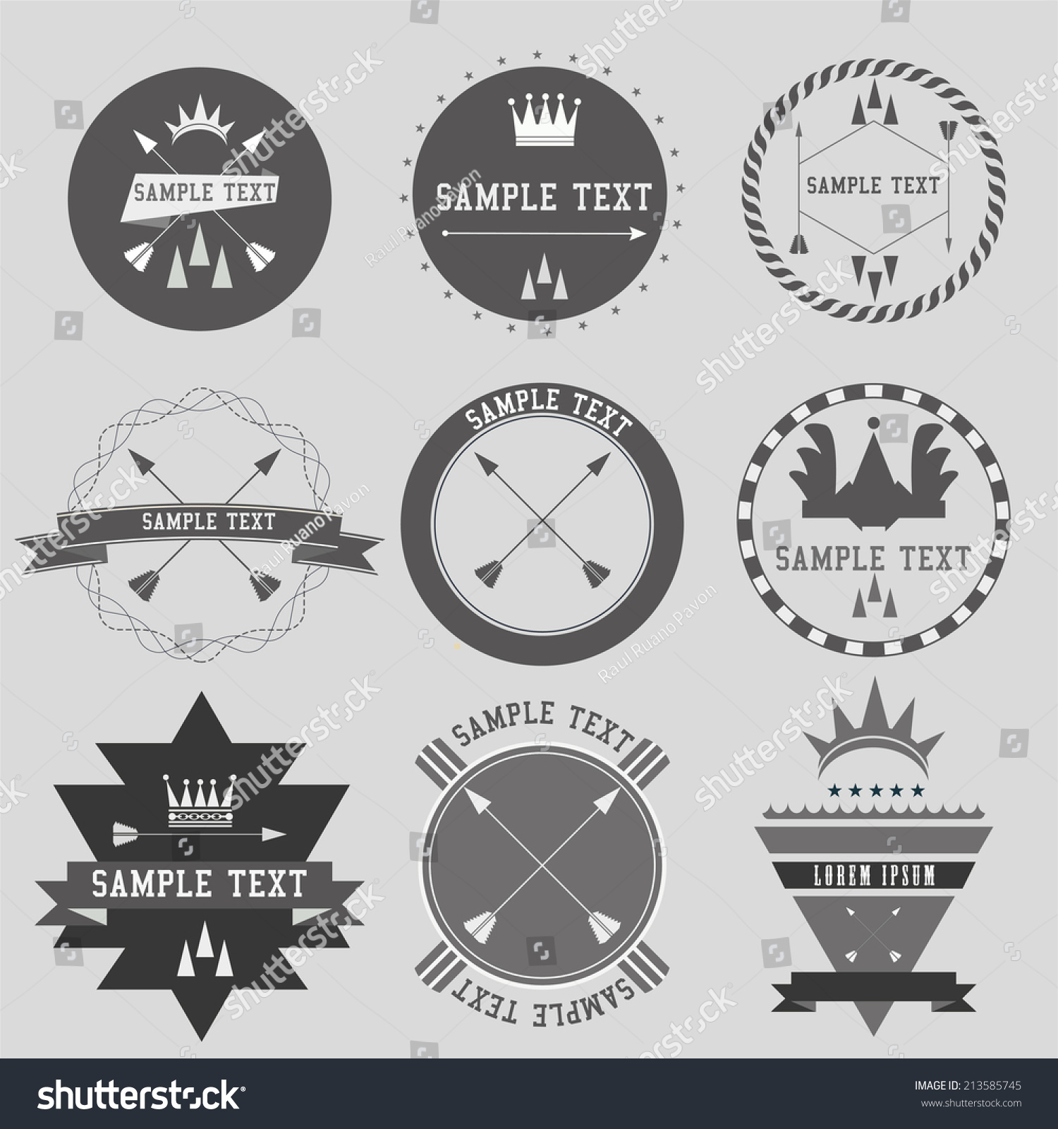 Royalty-free Vector vintage badge and label templates #213585745 ...