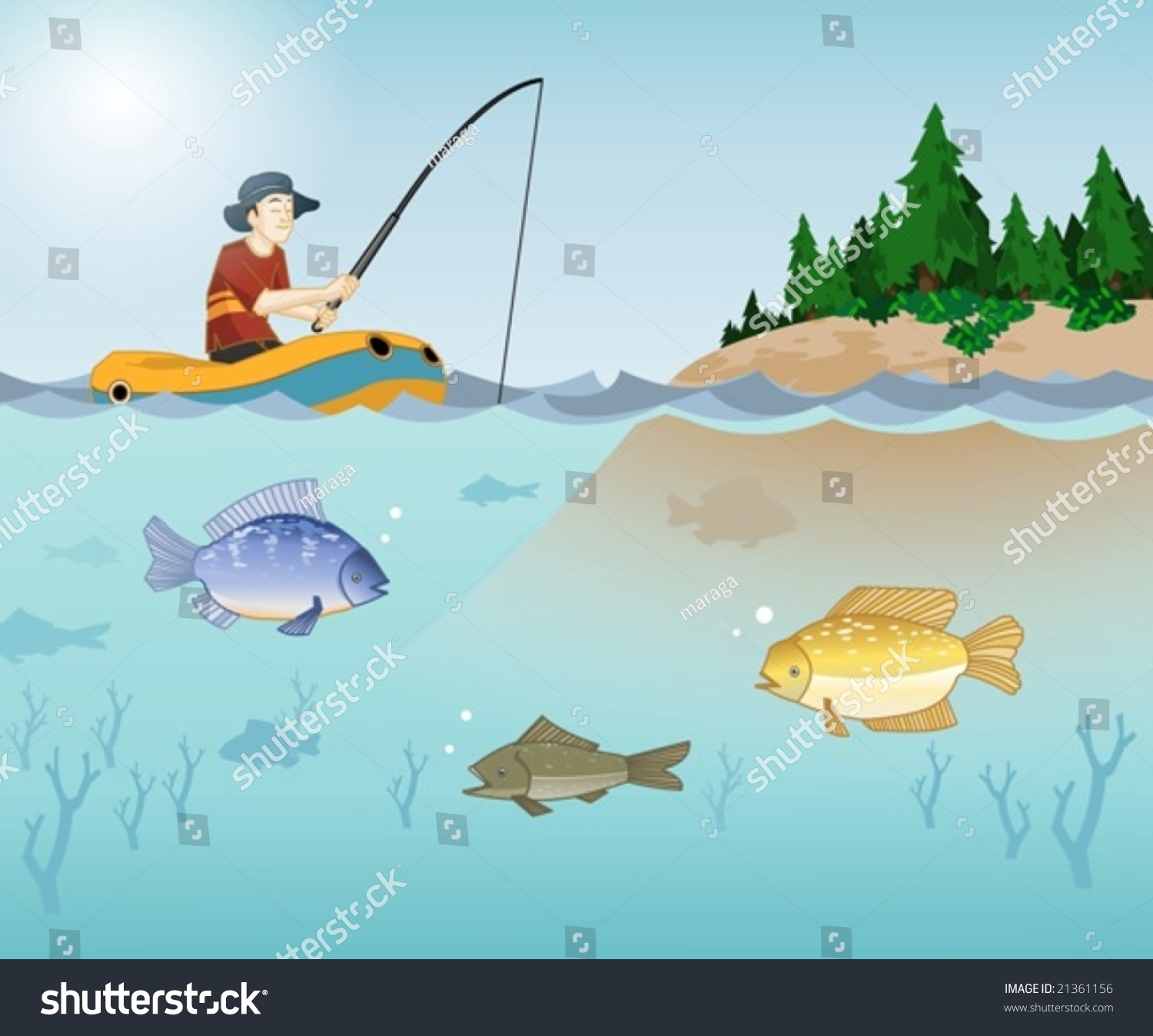 Fishing Lake Clip Art – Clipart Download