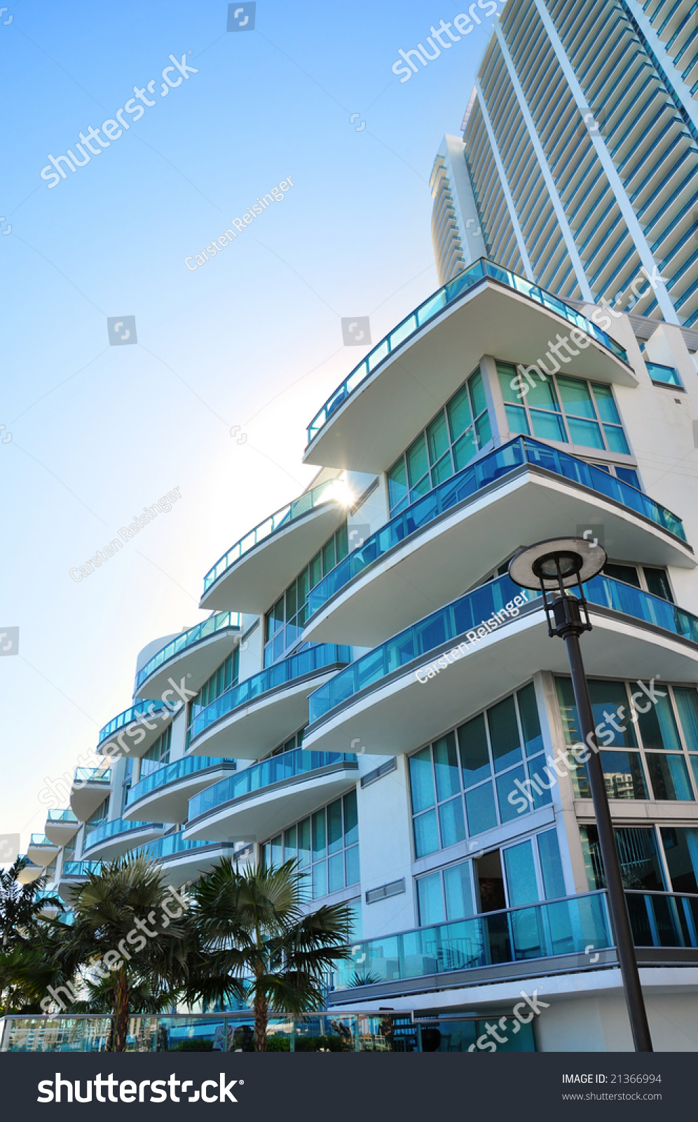 Luxurious Apartment Building In Nyc Marries Industrial: Luxurious Apartment Building In Florida Stock Photo