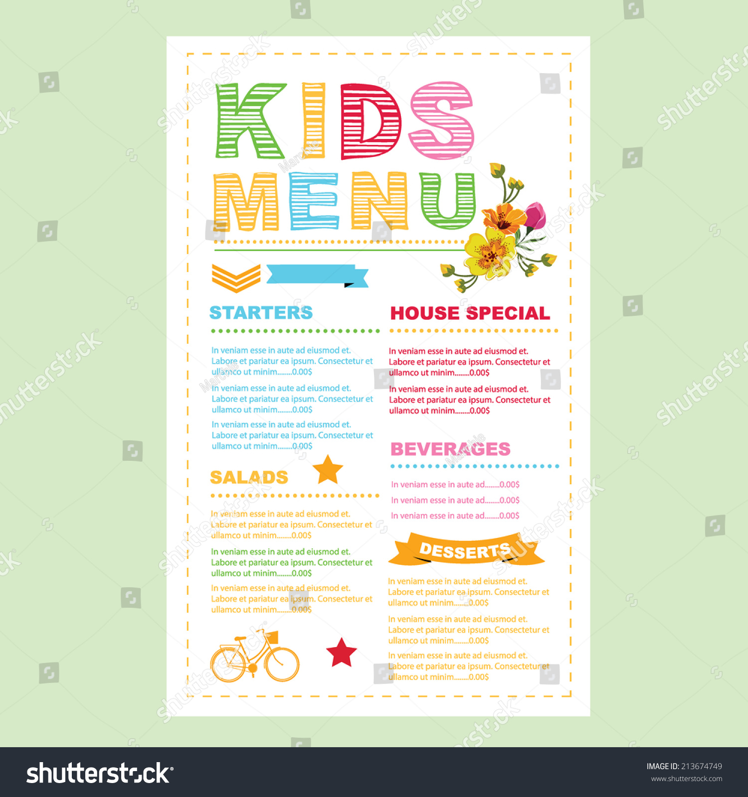 Free Menu Templates For Restaurants And Cafes. High Resolution PDF Artwork  Templates
