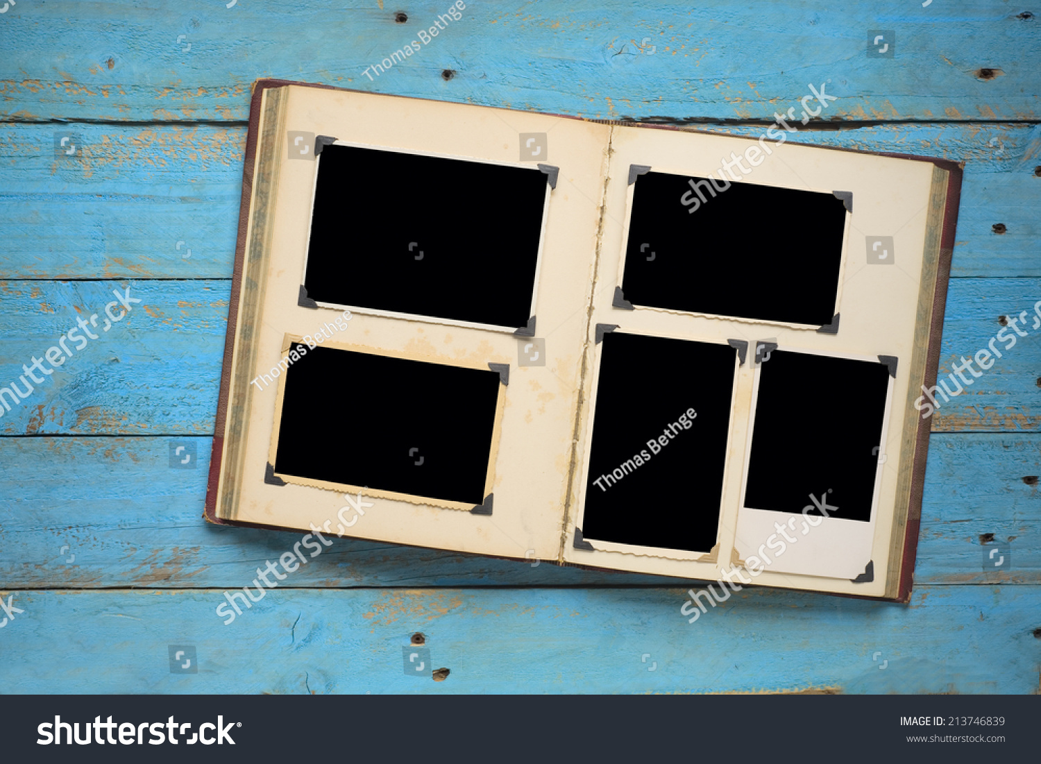 Vintage Book Photo Album Empty Photo Stock Photo (Royalty Free ...