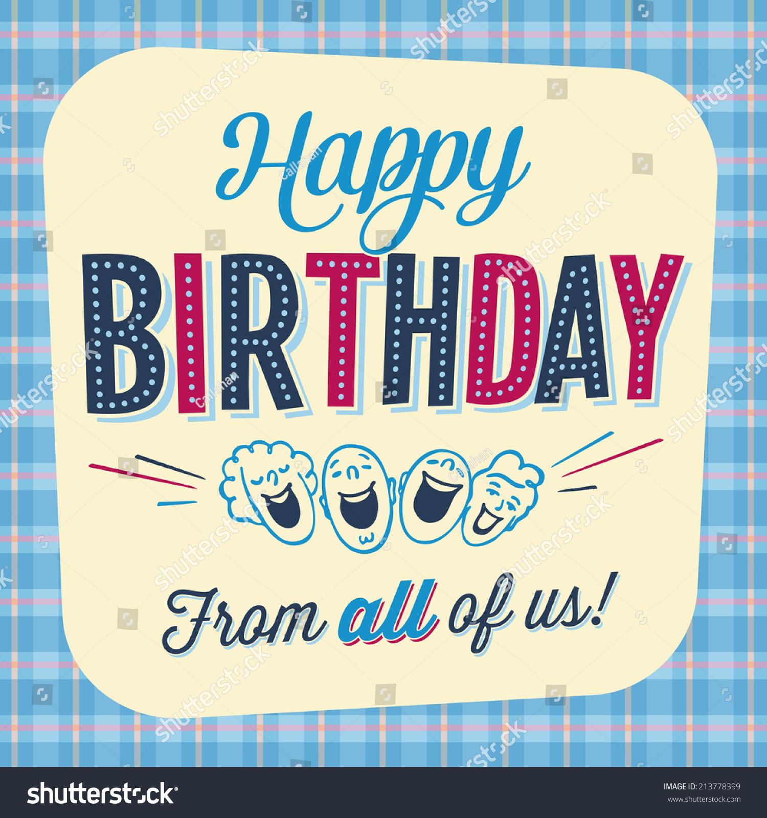 Vintage Birthday Card Happy Birthday All Stock