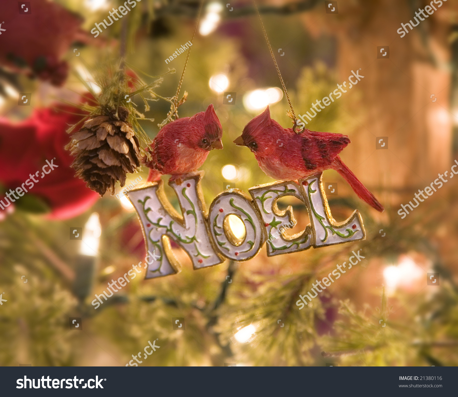 Vintage Christmas Tree Decorations Stock Photo Edit Now 21380116