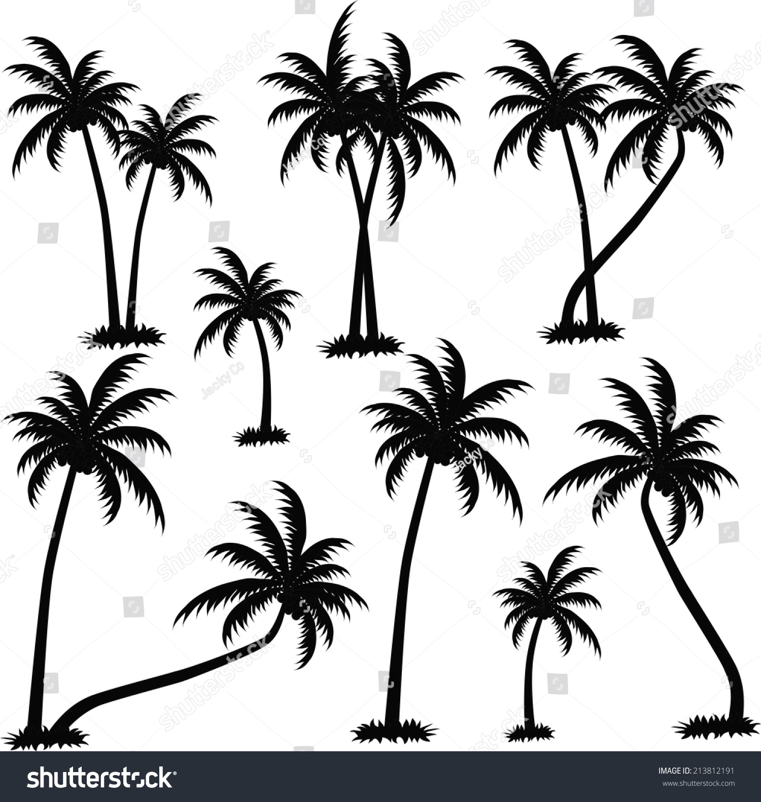 Palm Trees Vector Stock Vector 213812191 - Shutterstock
