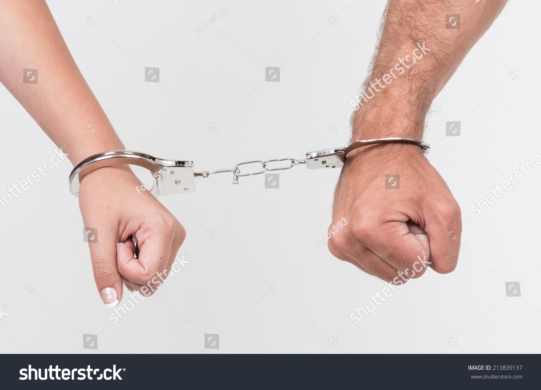 Handcuffed chain lesbians