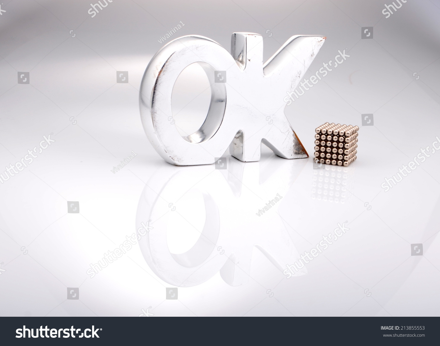 Big Silver Letters Big Silver Letters Ok Stock Photo 213855553  Shutterstock