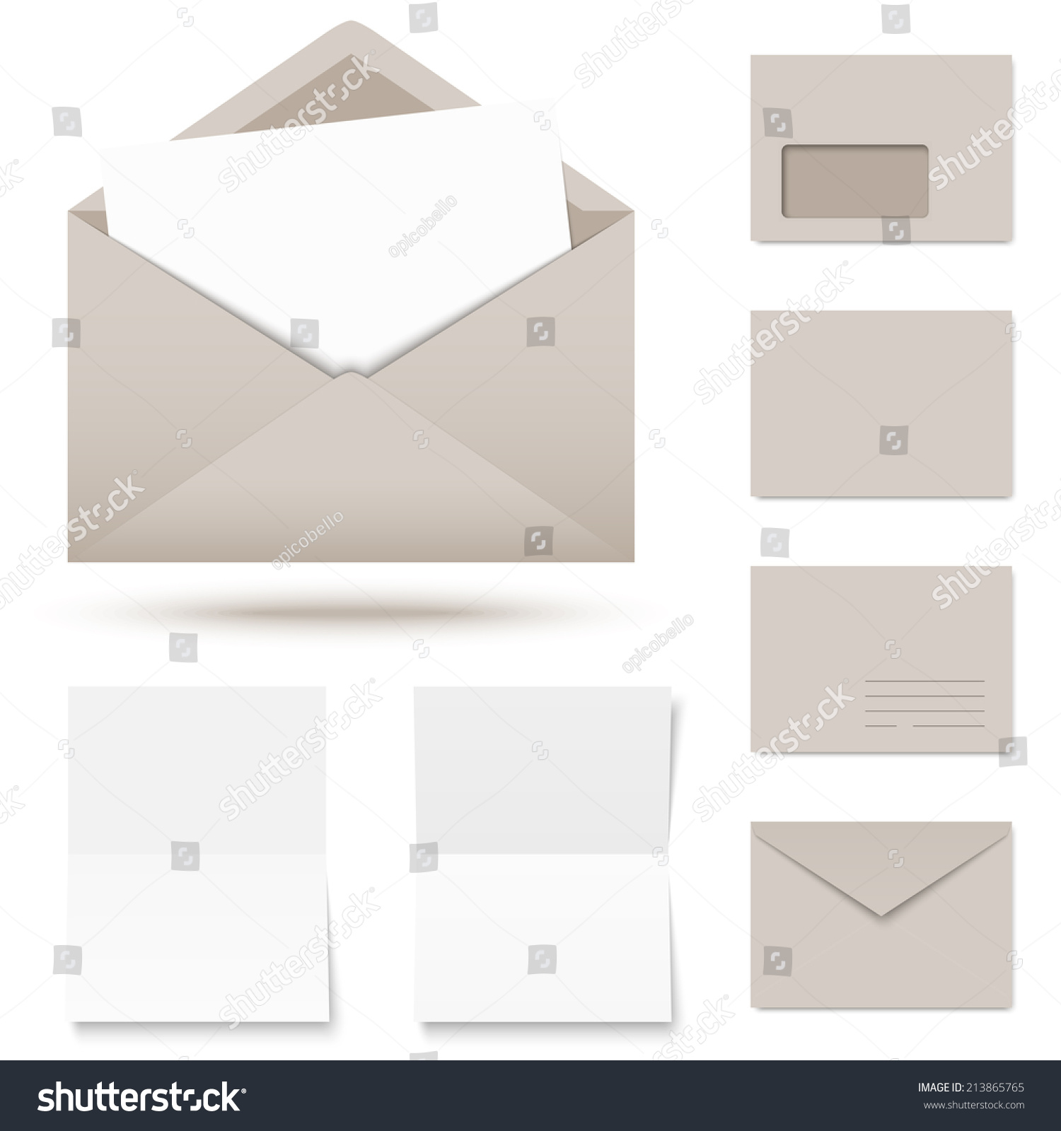 Vector   Collection Of Colored Envelopes With Writing Paper  Colored Writing Paper