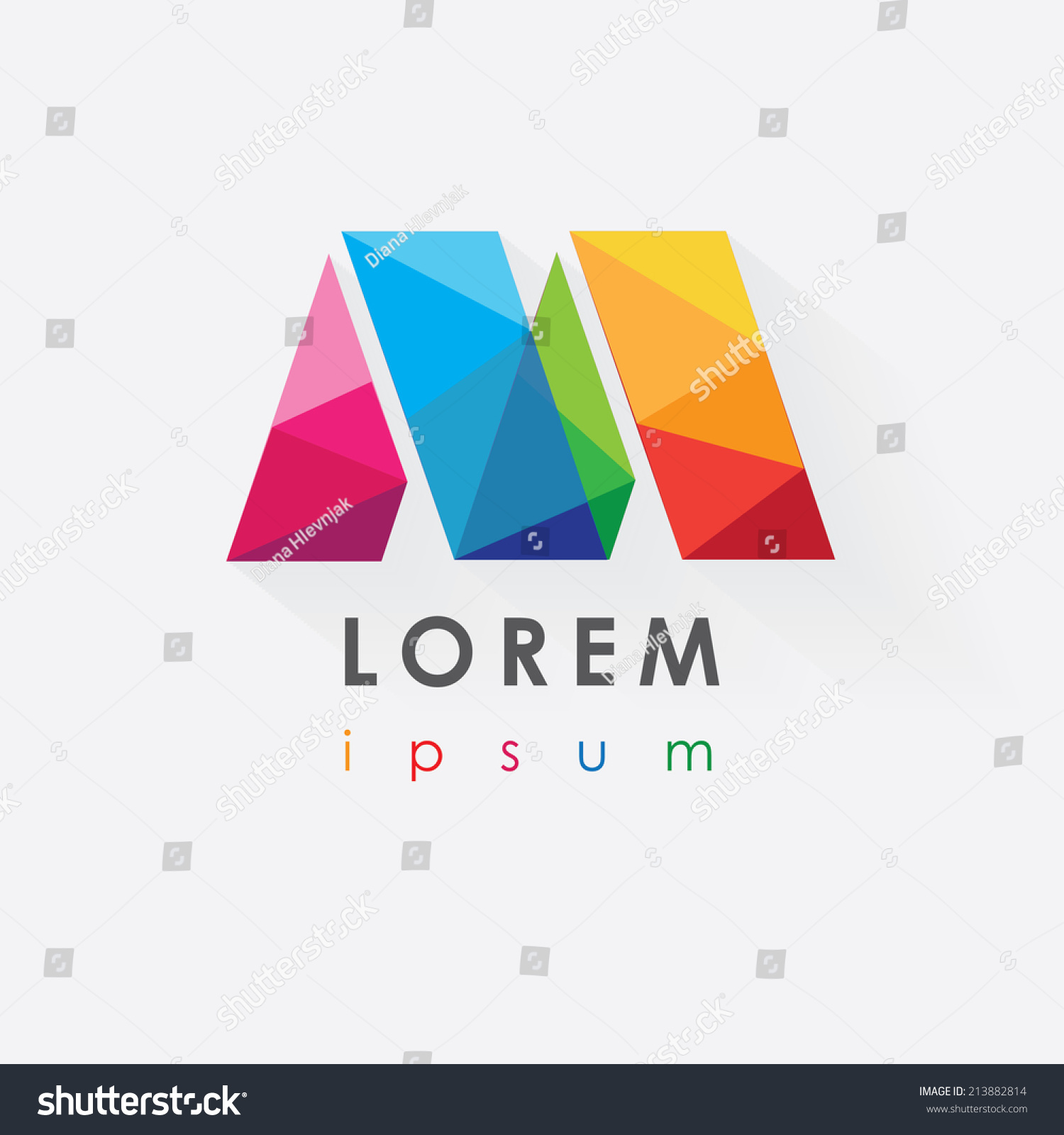 Colorful letter m logo design business stock vector for Designing company
