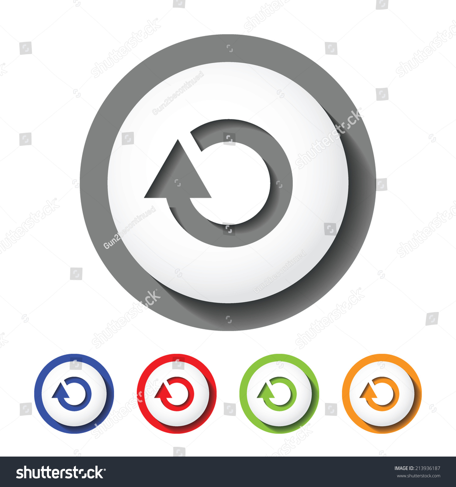 replay sign icon stock vector illustration 213936187