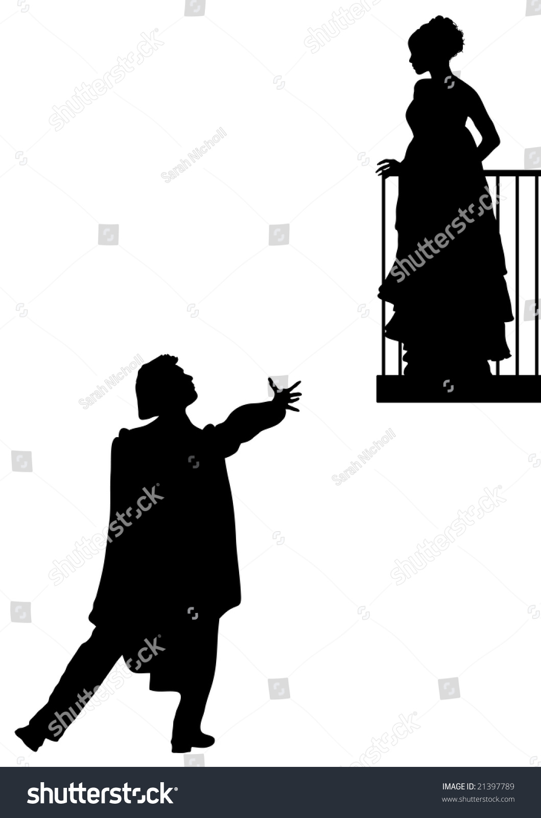 Romeo Juliet Balcony Scene Stock Illustration 21397789 ... Chinese Lantern Clipart