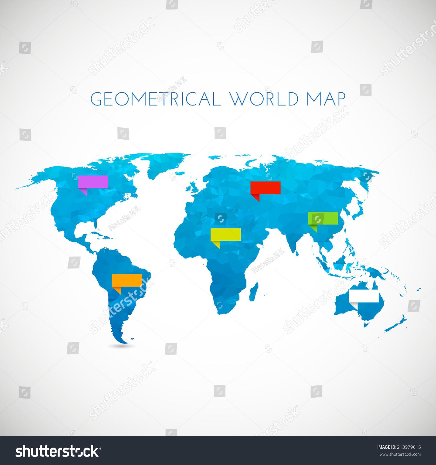 Polygonal world map vector illustration stock photo photo vector polygonal world map vector illustration gumiabroncs Images