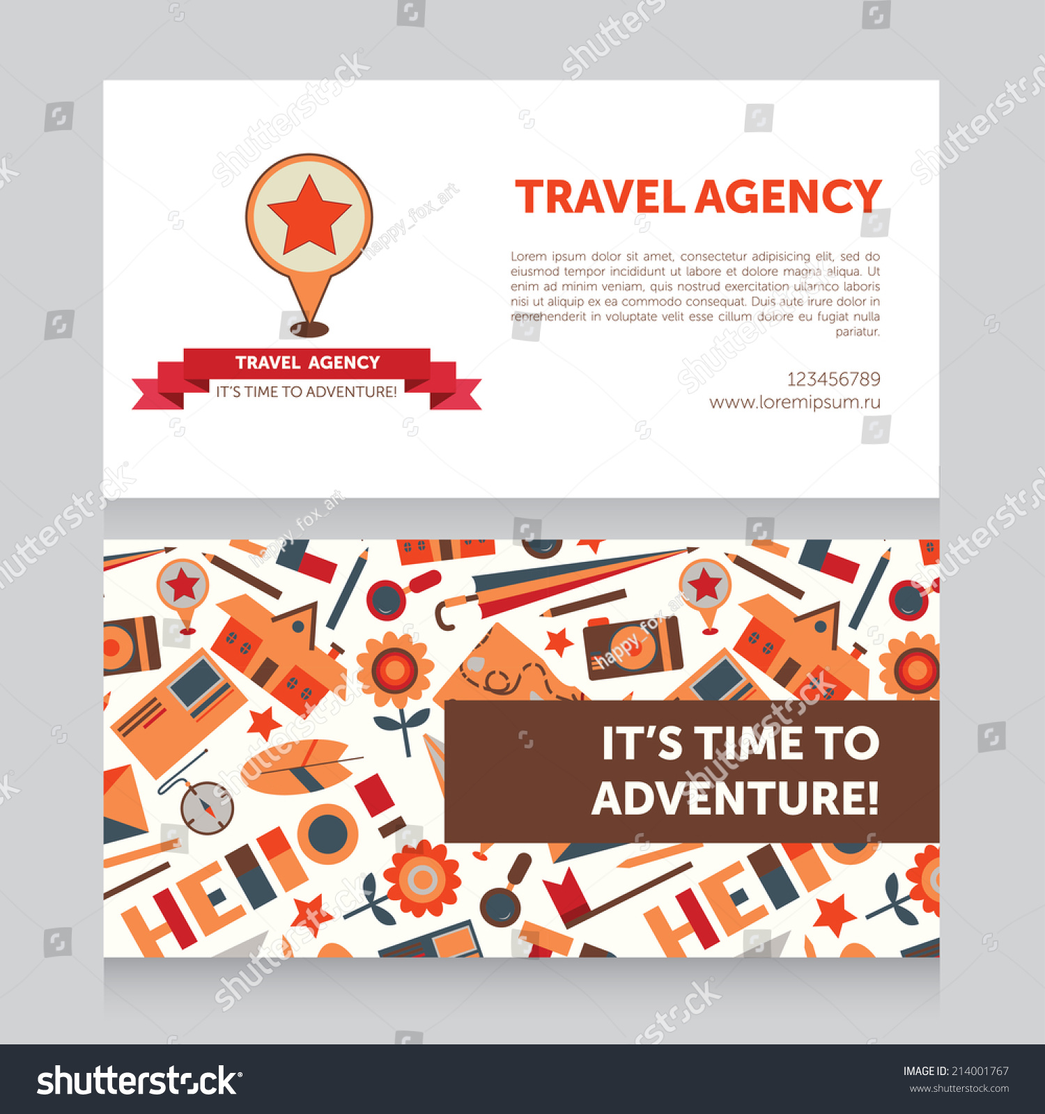 Design template travel agency business card stock vector 214001767 design template for travel agency business card vector illustration magicingreecefo Image collections