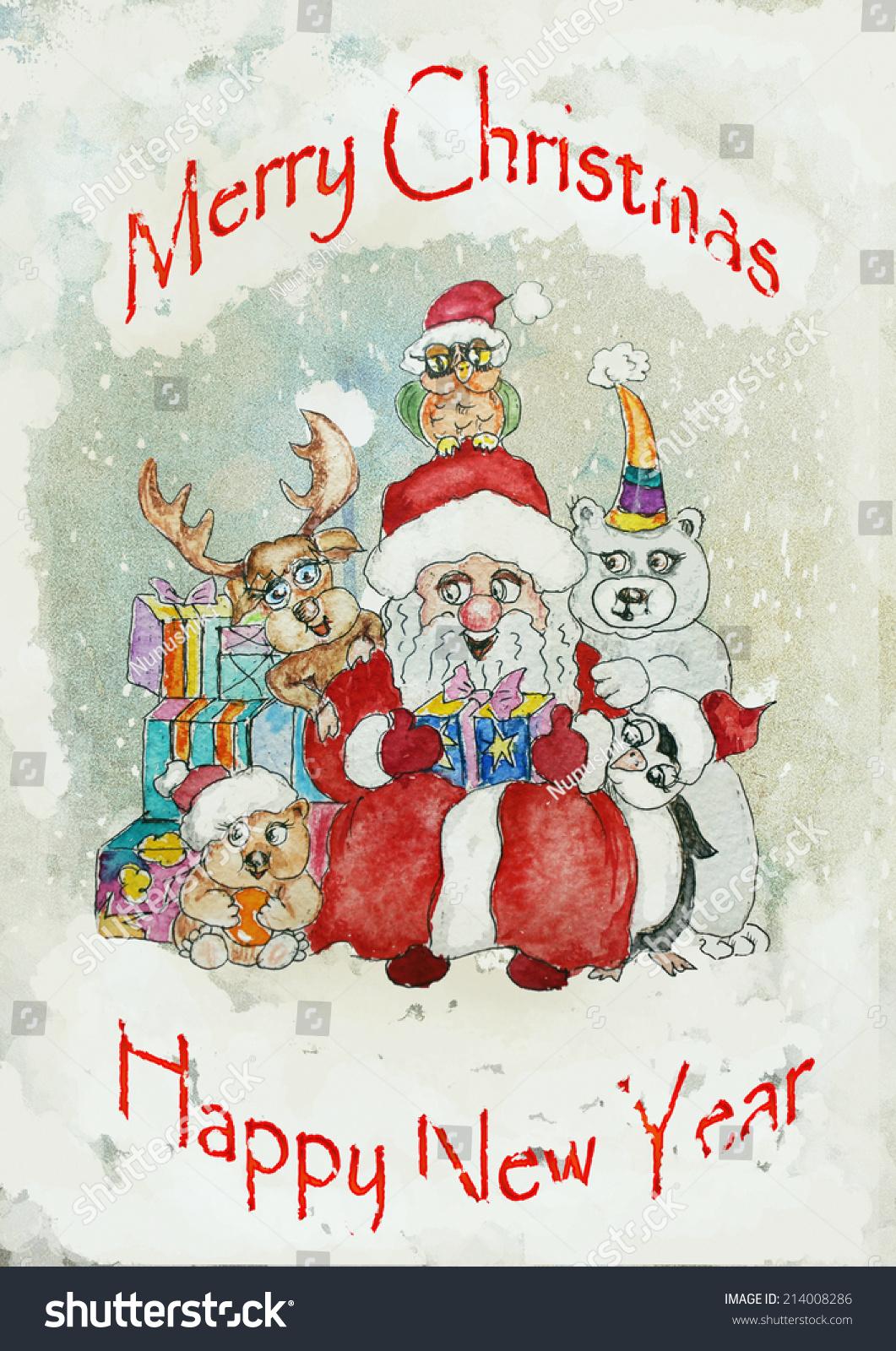 Royalty free stock illustration of vintage christmas greeting card vintage christmas greeting card m4hsunfo