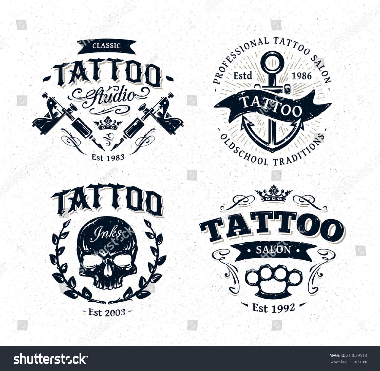 Vector Tattoo Studio Logo Templates On Stock Vector