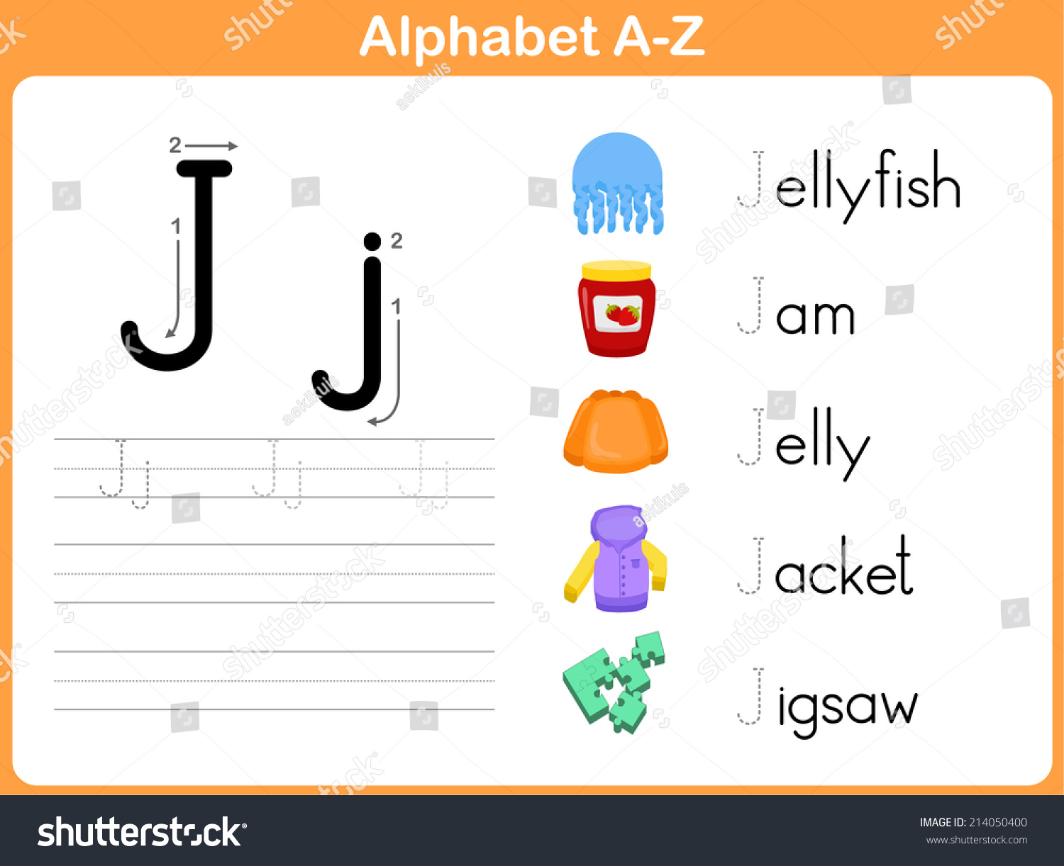 Alphabet Tracing Worksheet Writing Az Vector 214050400 – Alphabet Tracing Worksheet