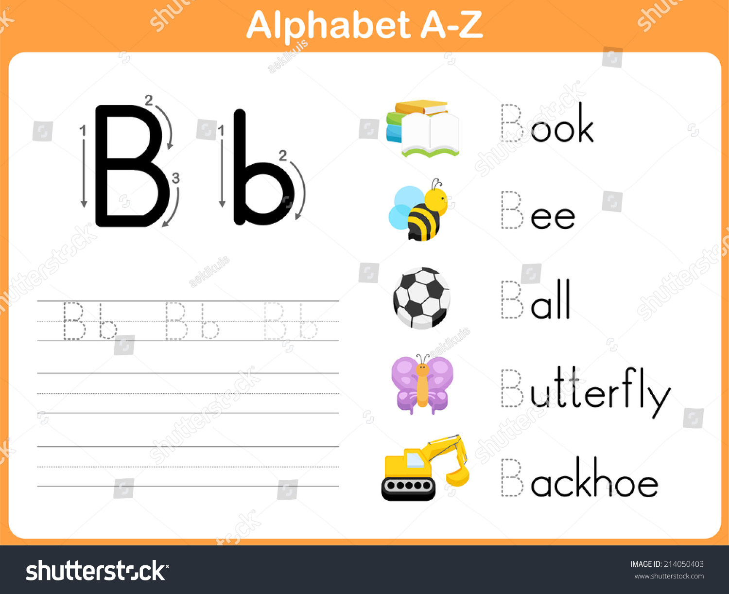 Alphabet Tracing Worksheet Writing Az Vector 214050403 – Alphabet Tracing Worksheet