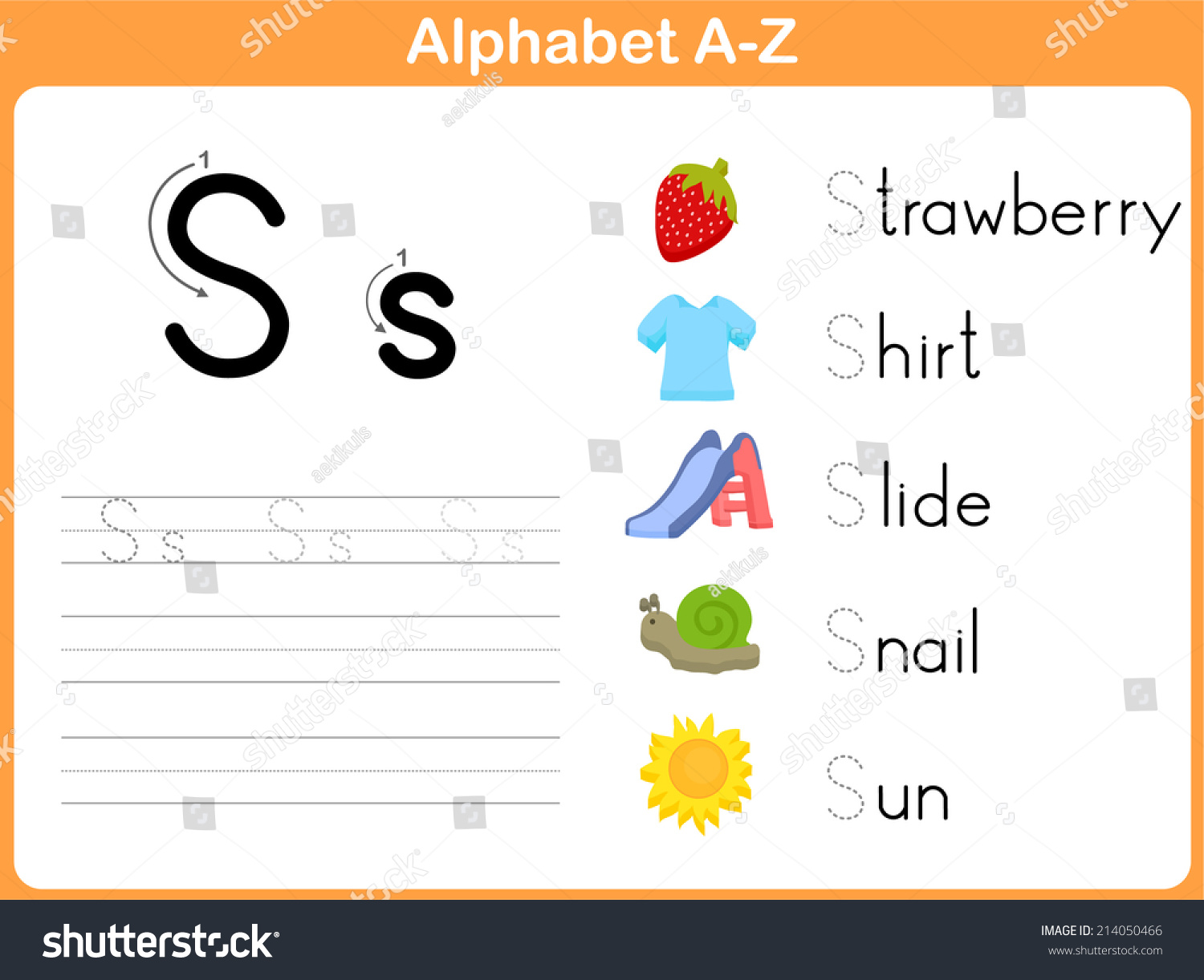 Worksheets Alphabet Tracing A  Z alphabet tracing worksheet writing az stock vector 214050466 a z
