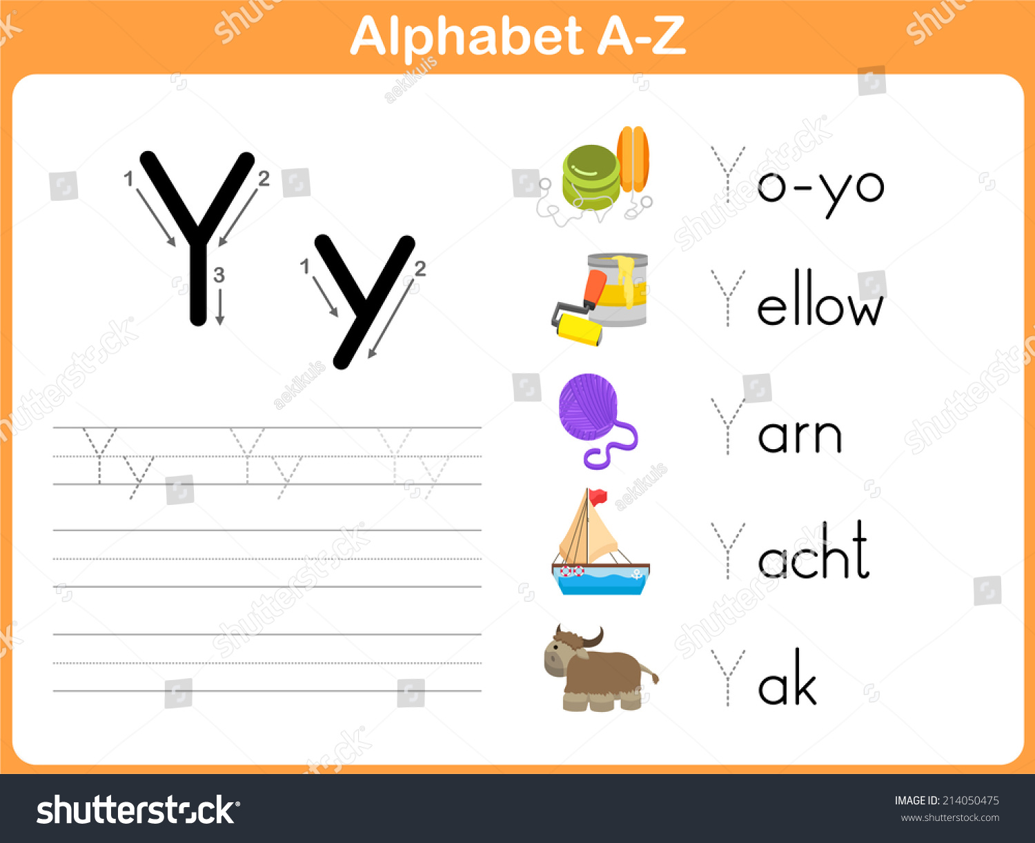 Alphabet Tracing Worksheet: Writing A-Z Stock Vector Illustration ...