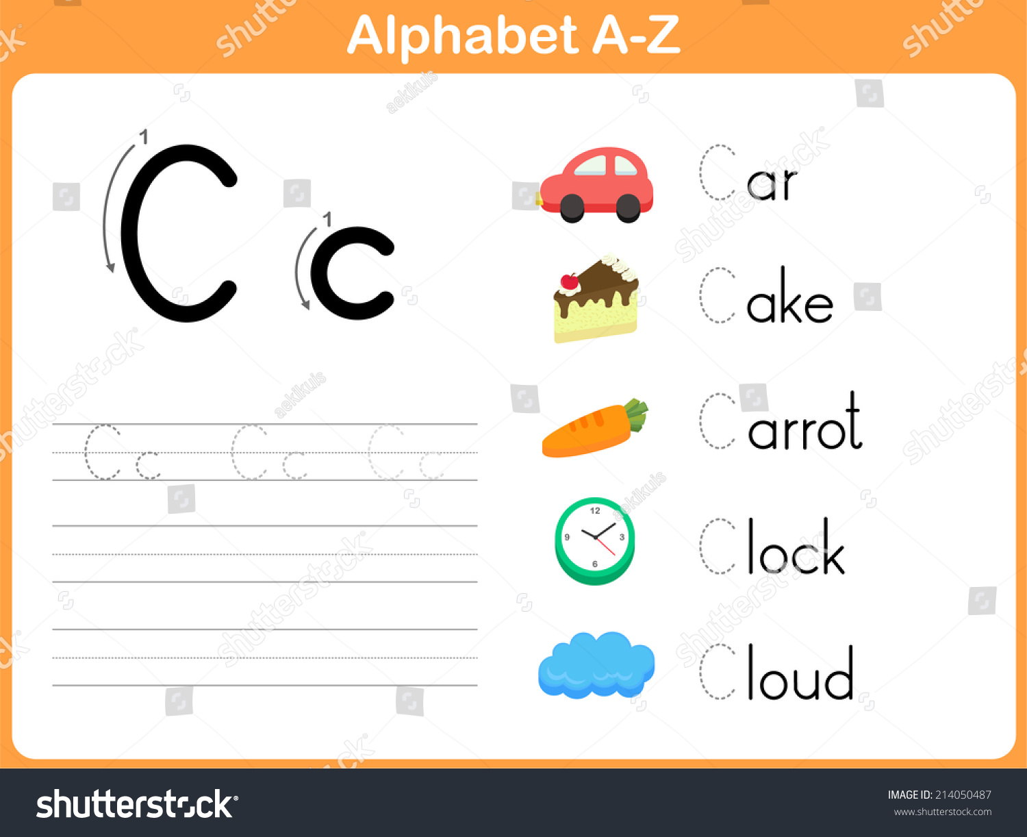 worksheet Alphabet Worksheet Set Letters Az alphabet tracing worksheet writing az stock vector 214050487 a z