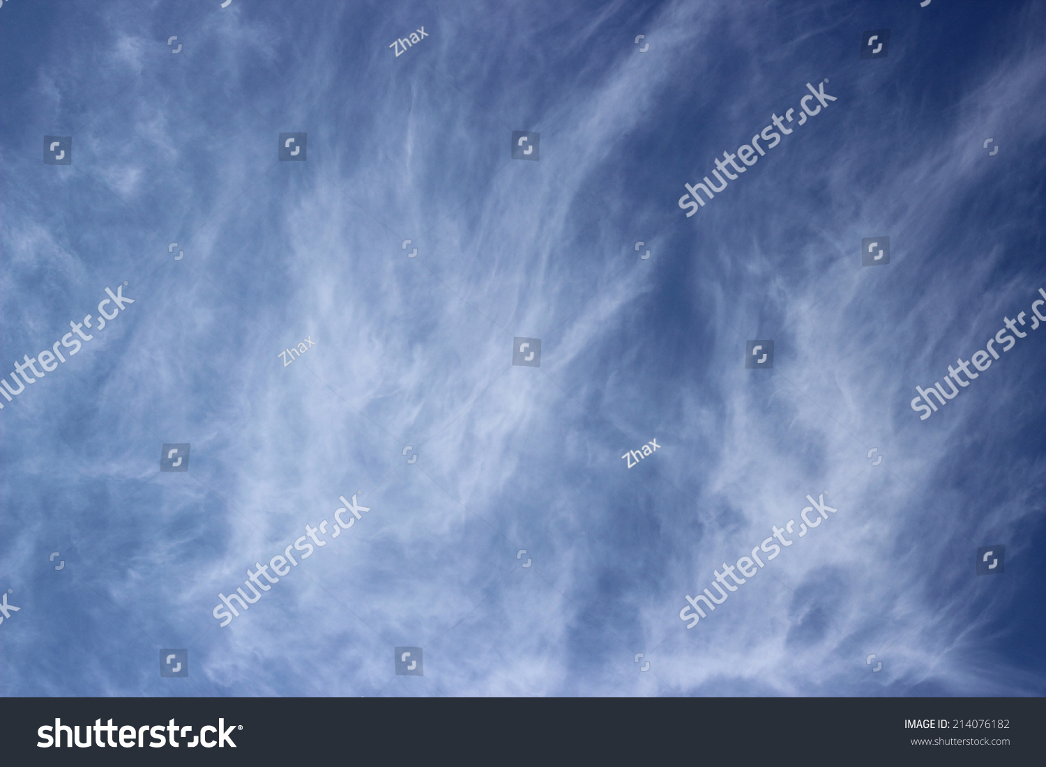 blue sky fluffy clouds wallpaper stock photo (royalty free