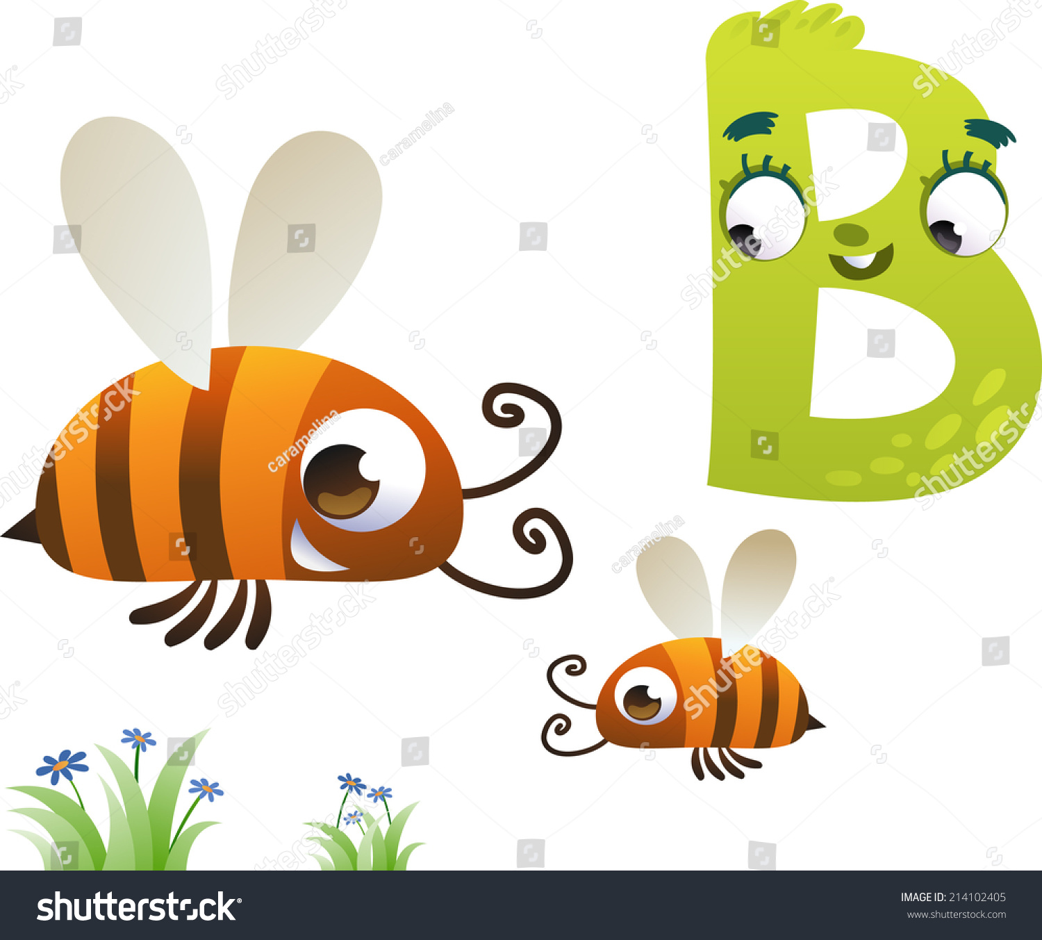 animal alphabet for the kids b for the bee