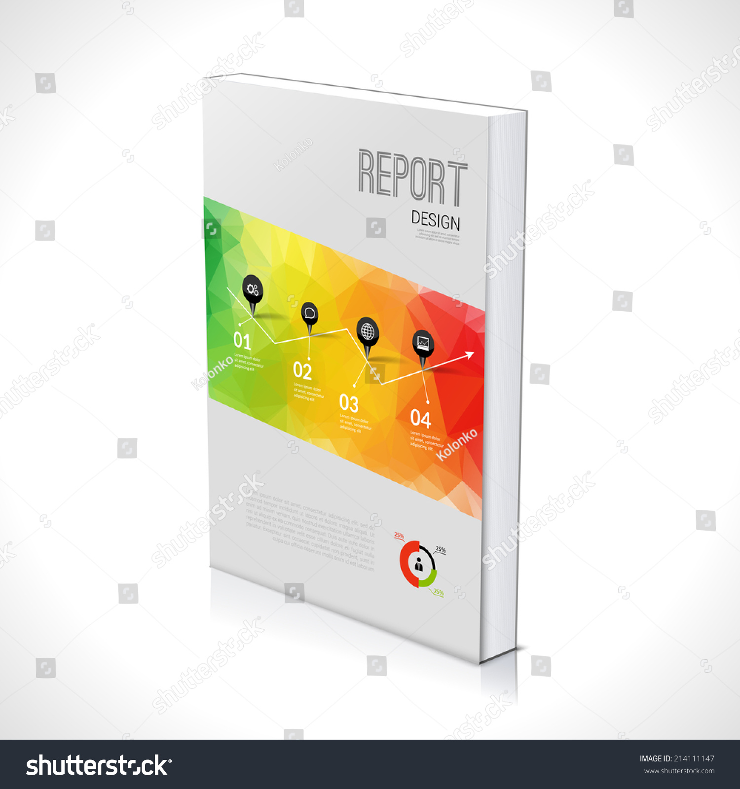 3d business design template cover brochure book flyer for 3d brochure design