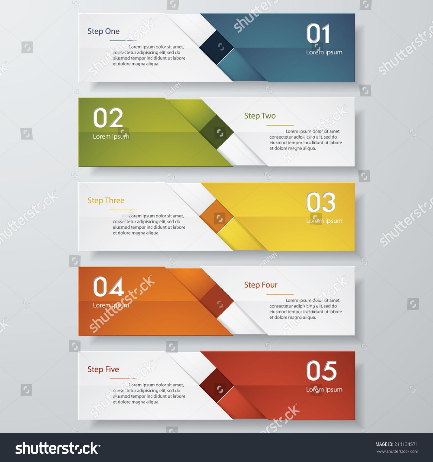 Design Clean Number Banners Templategraphic Website Stock Vector ...