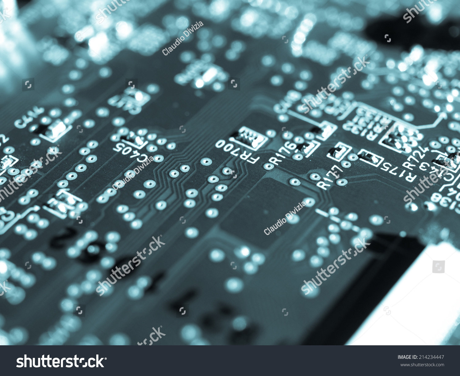 Detail Of An Electronic Printed Circuit Board Ez Canvas Stock Photos Images Pictures Shutterstock