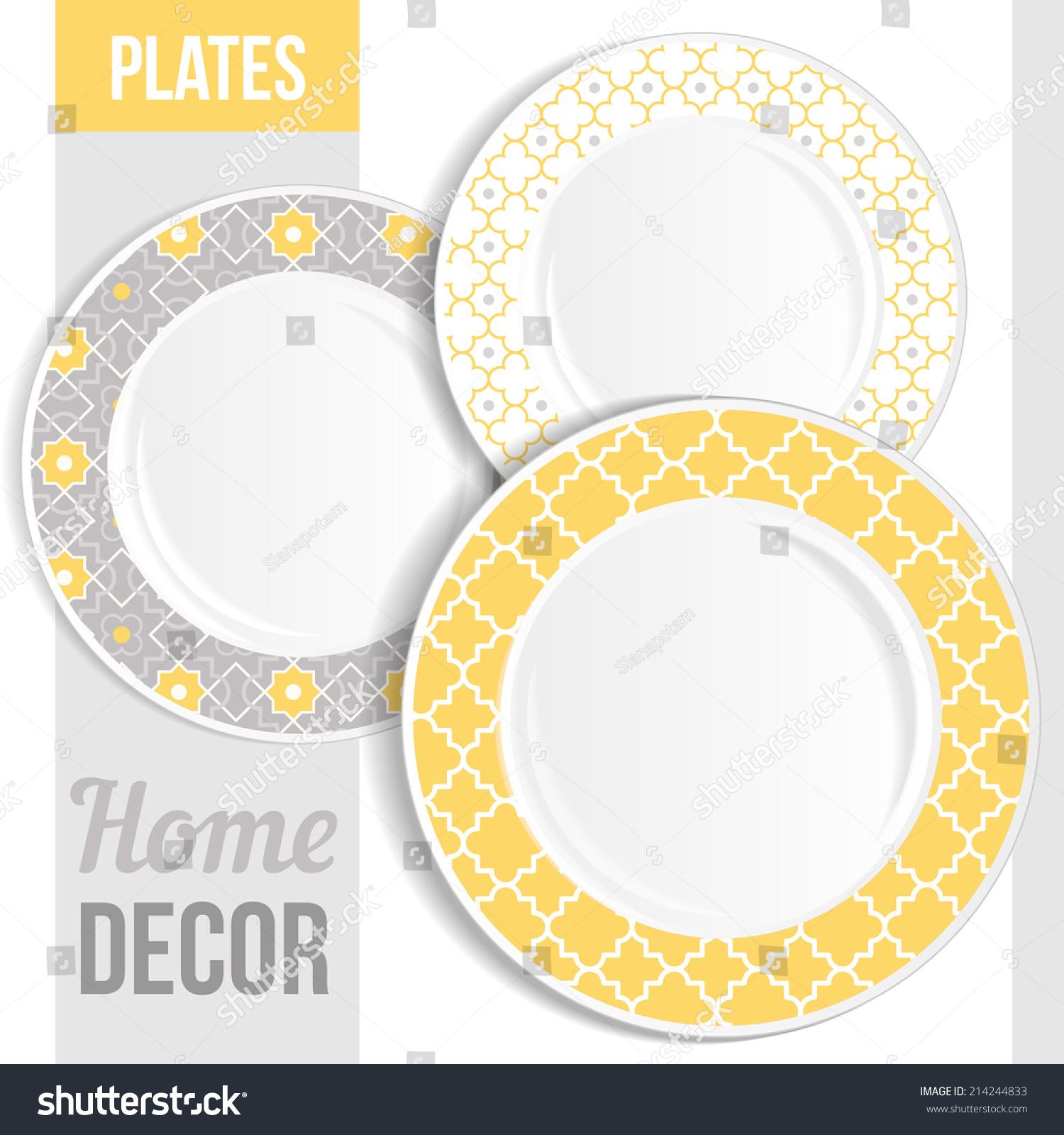 Yellow Decorative Plates | Wall Plate Design Ideas