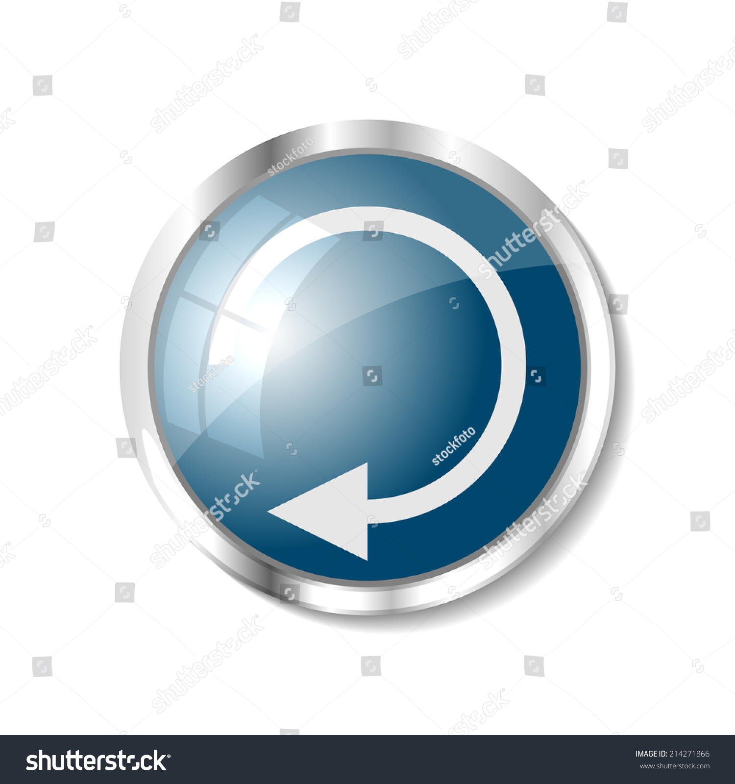 Replay Blue Button Icon Vector Illustration Stock Vector ...