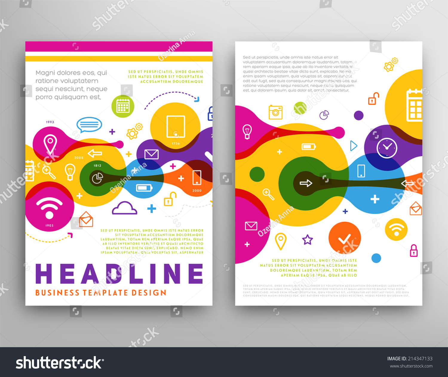 abstract triangle geometric vector brochure template stock vector abstract triangle geometric vector brochure template flyer layout flat style infographic elements